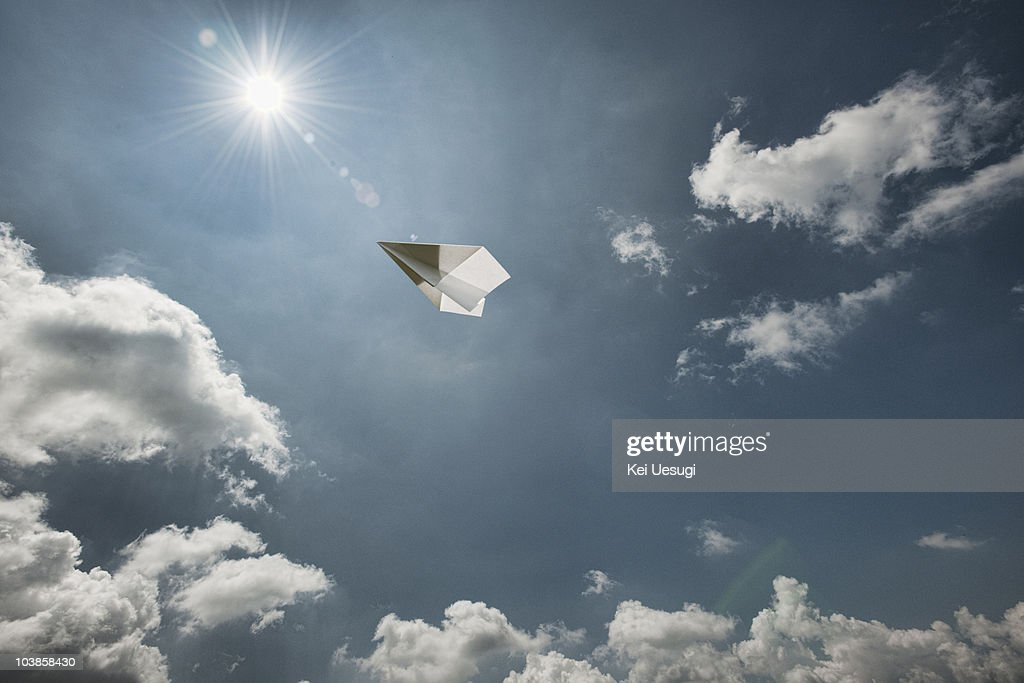 A paper airplane. : Stock Photo