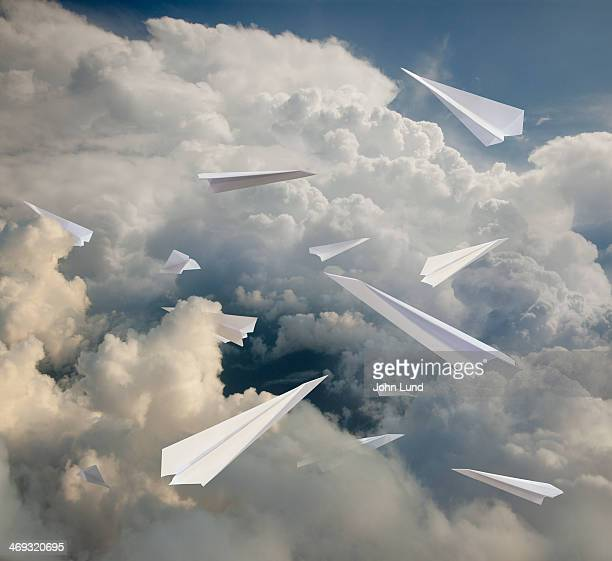 Paper Airplanes In The Cloud