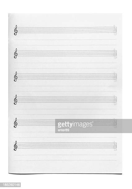 paper background - sheet music stock photos and pictures