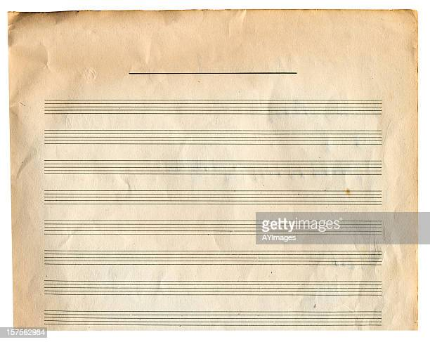 Paper background with music score