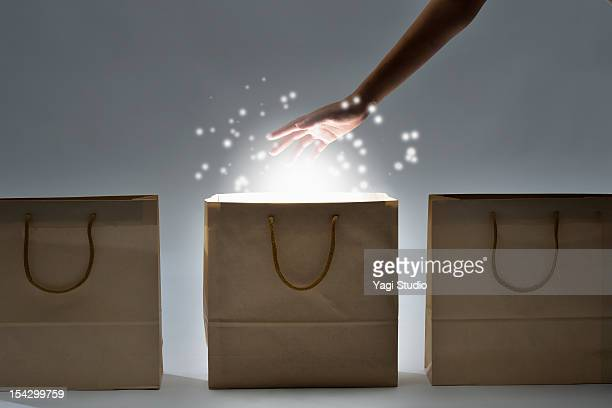 Paper bag is shining