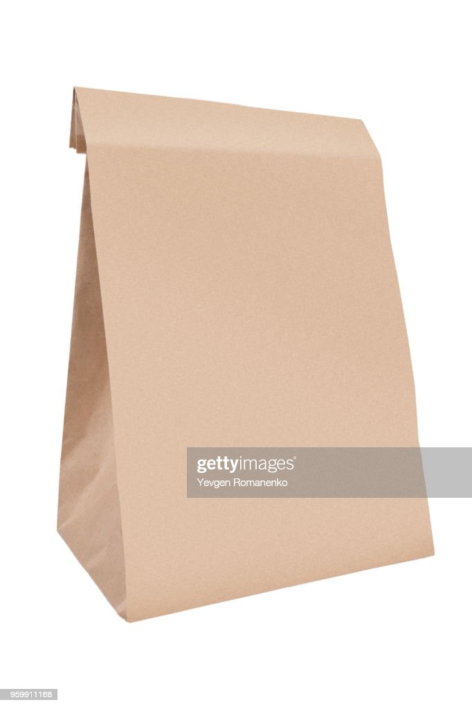 Paper bag, isolated on white background : Stock-Foto