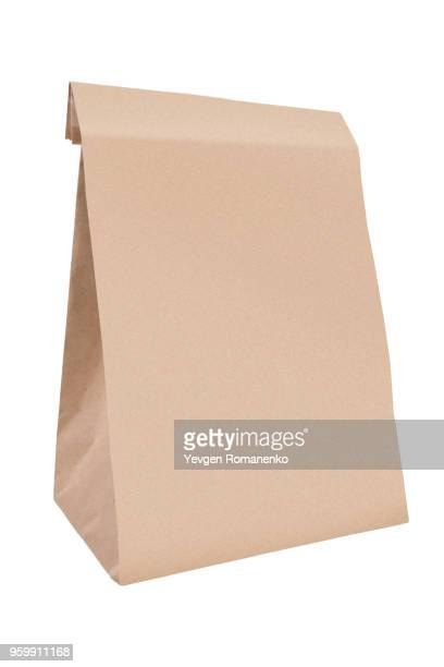 paper bag, isolated on white background - sac photos et images de collection