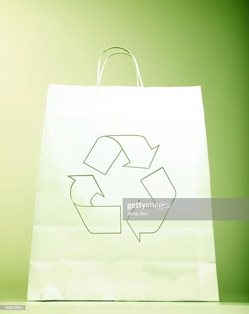 Bolsa de papel con alimentos señal : Foto de stock