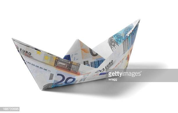 Paper Boat made from Euros