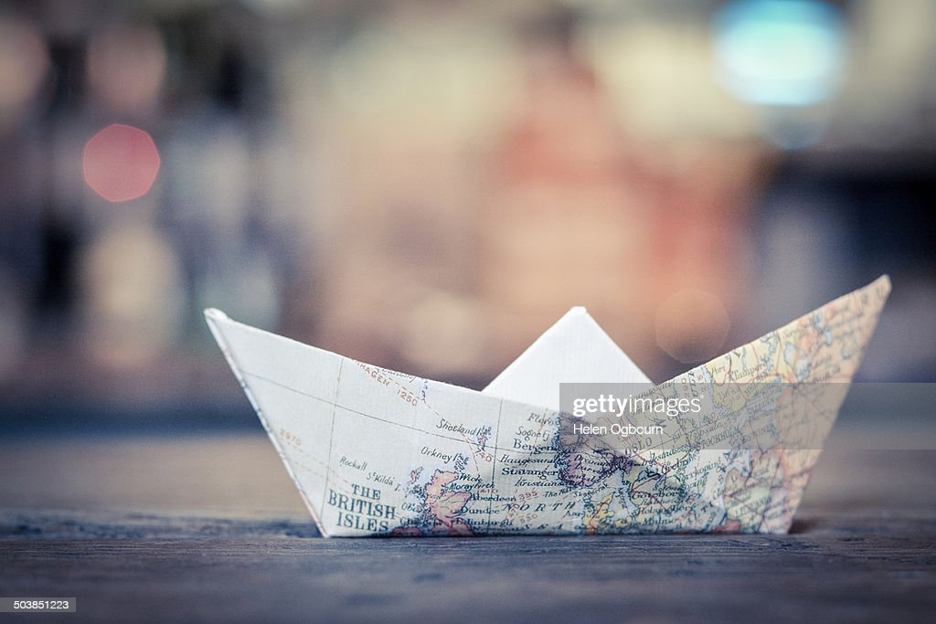 Paper boat : Stock Photo