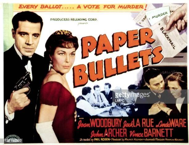 Paper Bullets [aka Gangs lobbycard INC CRIME INC] Jack LaRue Joan Woodbury Vince Barnett John Archer Linda Ware 1941