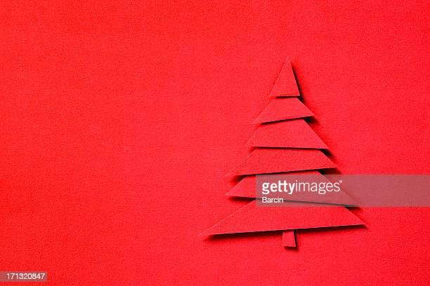 紙のクリスマスツリー