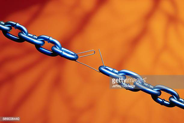 Paper Clip Holding Chain