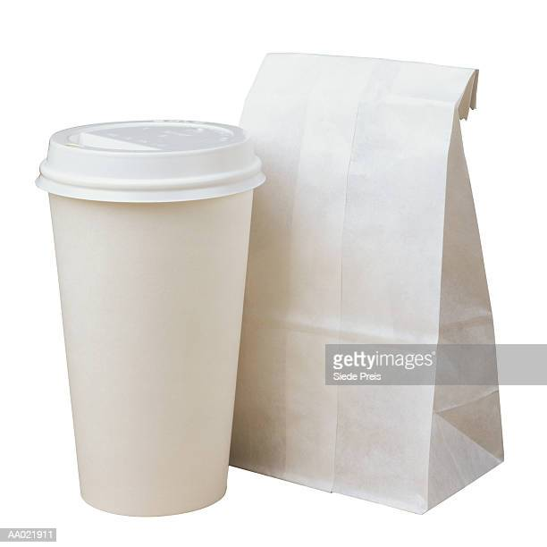 Paper Coffee Cup and Bag
