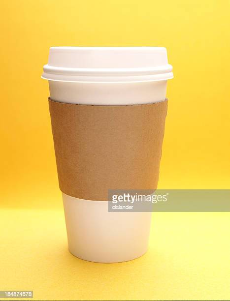 Paper Coffee Cup w/plain cozy