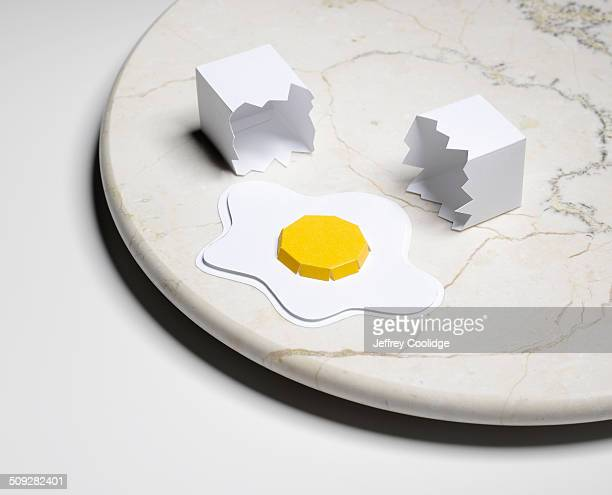 Paper Craft Eggs on Marble