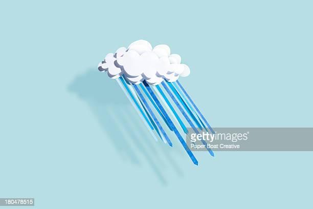 paper craft weather - metereologia - fotografias e filmes do acervo
