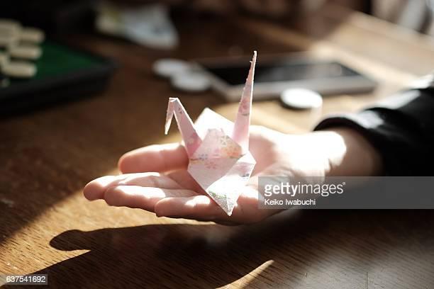 Paper crane - origami