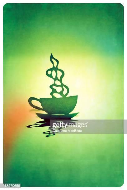 paper cup and saucer - catherine macbride fotografías e imágenes de stock