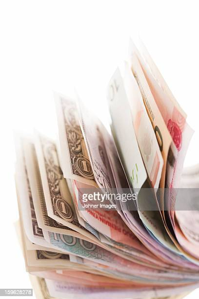 Paper currency, mixed countries