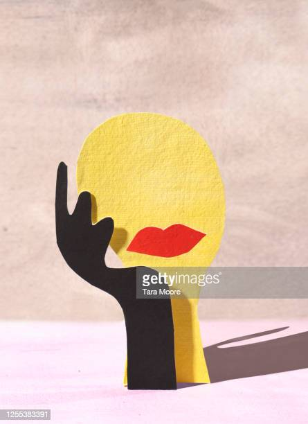 paper cutout shapes of face - human head stock pictures, royalty-free photos & images