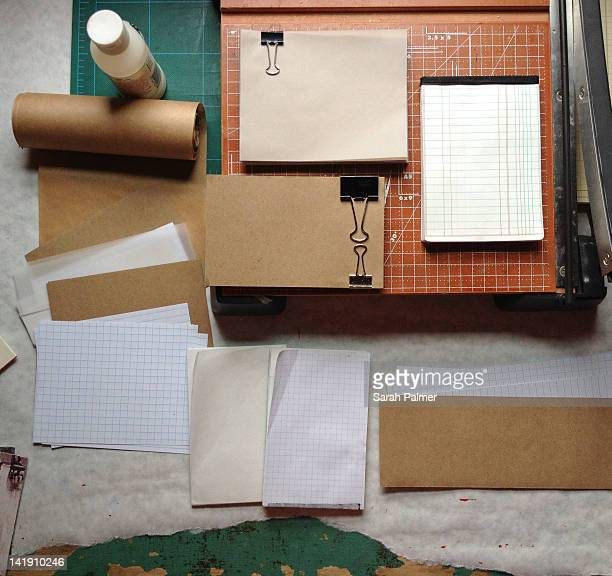 Paper cutting and book binding