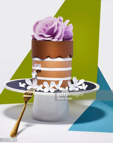 "paper dessert cake - ""shana novak"" stock pictures, royalty-free photos & images"