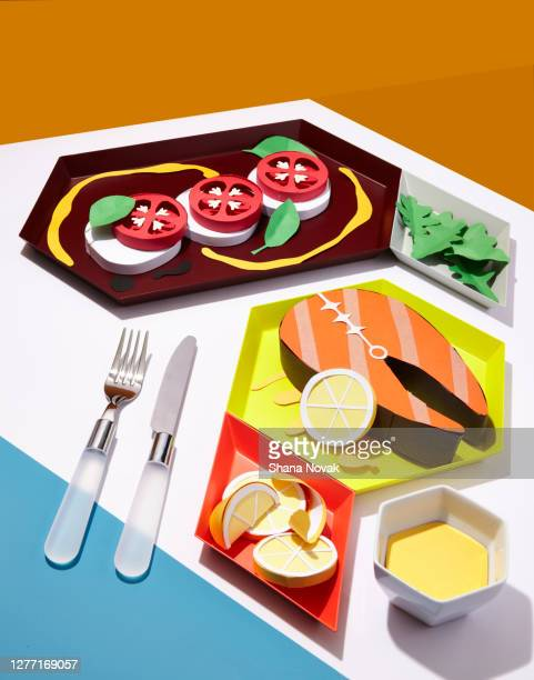 "paper dinner meal - ""shana novak"" stock pictures, royalty-free photos & images"