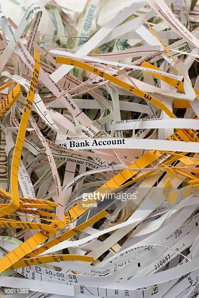 Déchiqueteuse de documents papier de sécurité le vol d'identité,