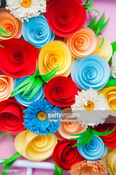 paper flowers - art and craft stock pictures, royalty-free photos & images