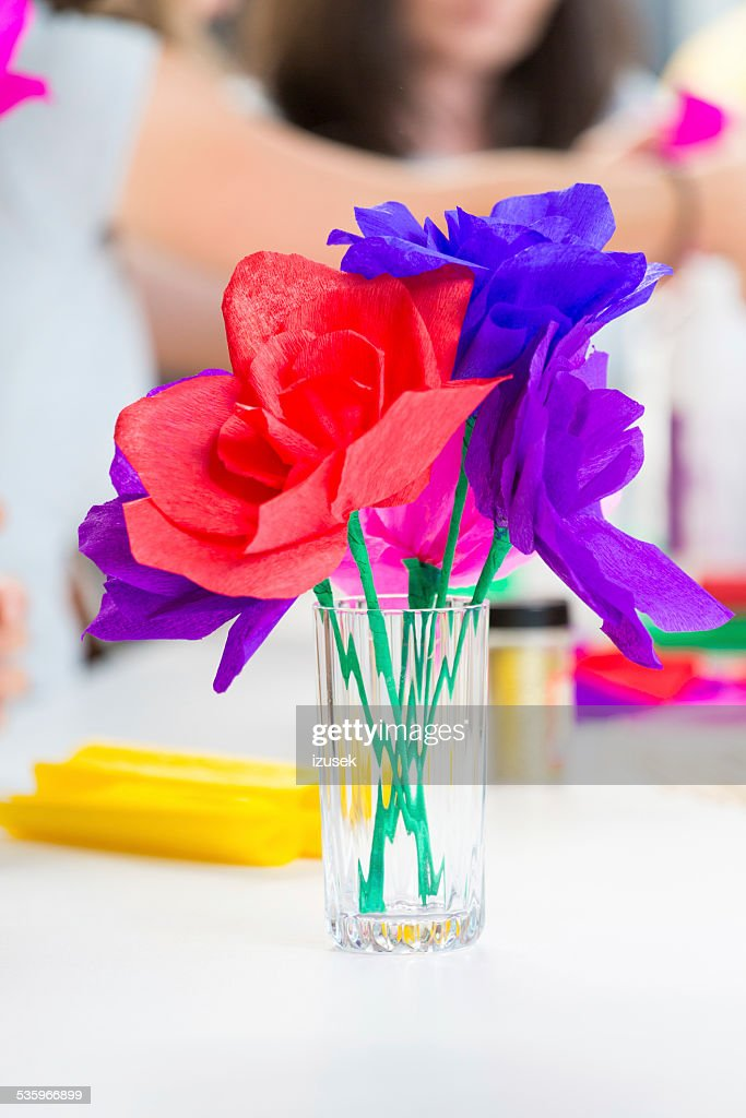 Paper flowers : Stock Photo