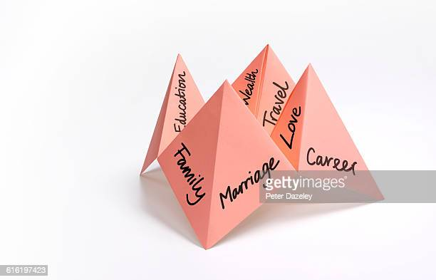 Paper fortune teller career decisions