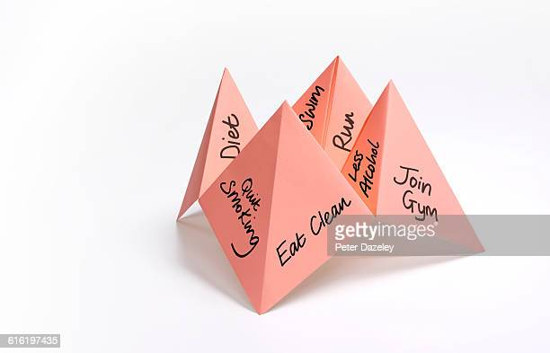 Paper fortune teller health issues