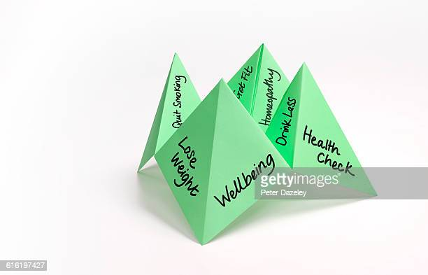 Paper fortune teller wellbeing fitness