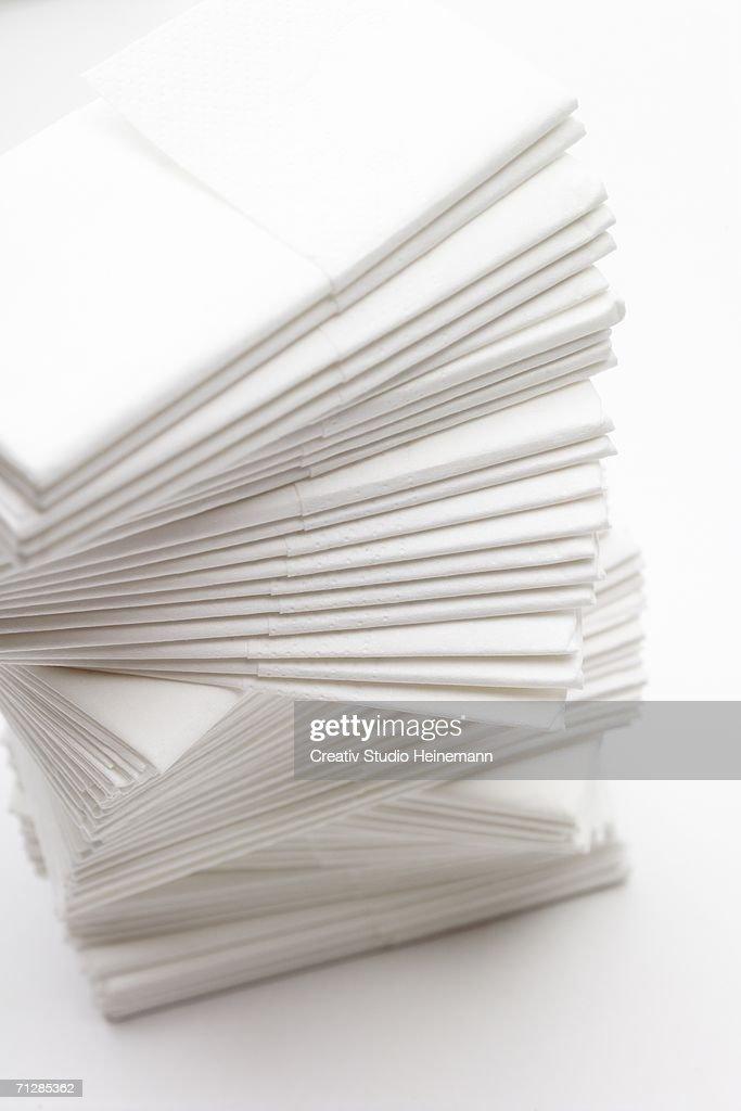 Paper handkerchiefs, tissues : Foto de stock