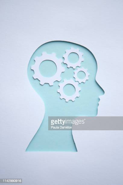 paper head - cog stock pictures, royalty-free photos & images