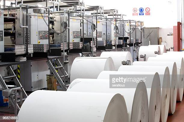 Paper in a printing press
