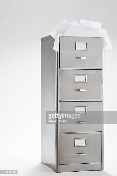 Paper in filing cabinet