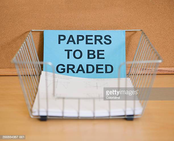 paper in holder, close-up - inbox filing tray stock pictures, royalty-free photos & images