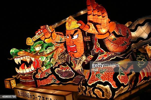 paper lantern at nebuta, aomori, japan - aomori prefecture stock pictures, royalty-free photos & images