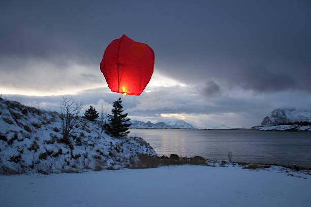 Paper Lantern By The Sea Wall Art