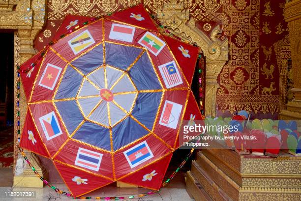 paper lantern, luang prabang festival of lights - association of southeast asian nations stock pictures, royalty-free photos & images