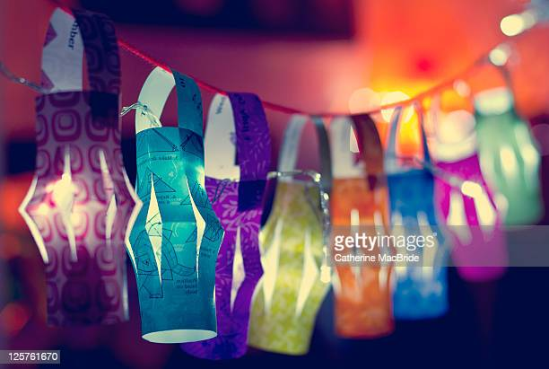 paper lanterns - catherine macbride stock pictures, royalty-free photos & images