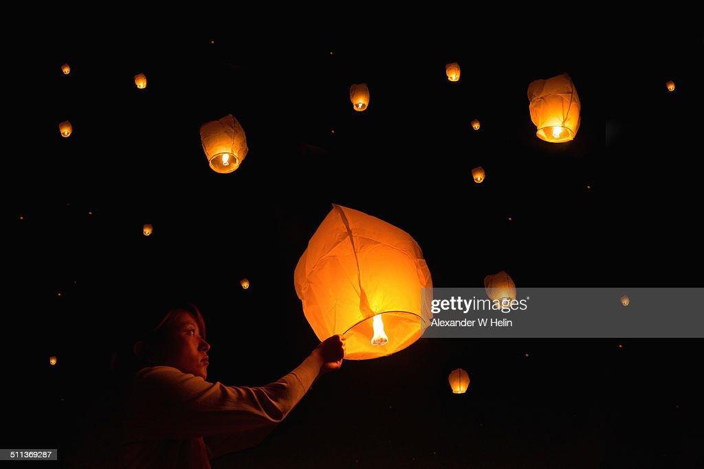 Paper lanterns : Stock Photo