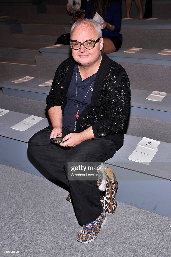 Paper magazine editorial director Mickey Boardman attends the Nanette Lepore fashion show during Mercedes-Benz Fashion Week Spring 2014 at The Stage at Lincoln Center on September 11, 2013 in New York City.