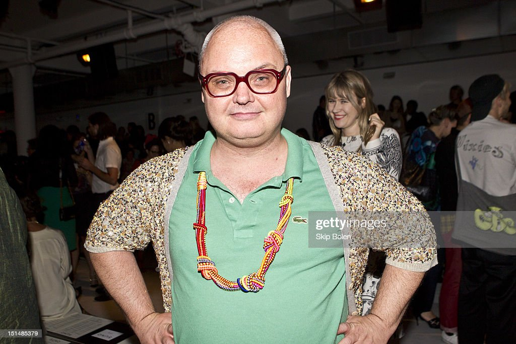 Paper Magazine's Mickey Boardman, aka Mr Mickey, attends the Suno spring 2013 fashion show during Mercedes-Benz Fashion Week at Milk Studios on September 7, 2012 in New York City.