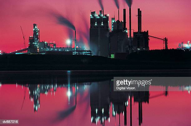 Paper Mill at Twilight