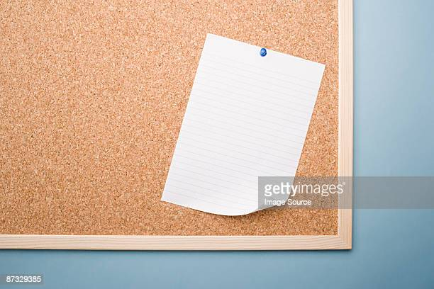 paper on a noticeboard - bulletin board stock pictures, royalty-free photos & images