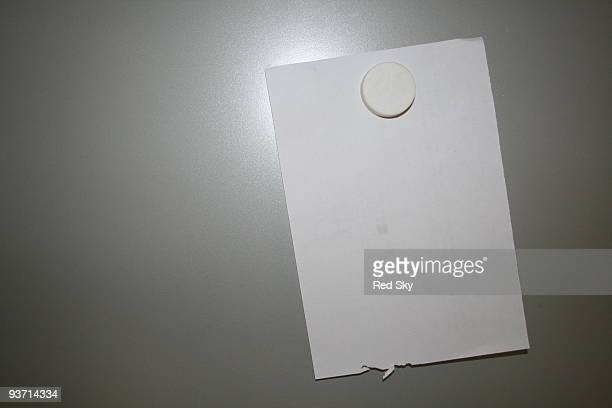 Paper on the fridge