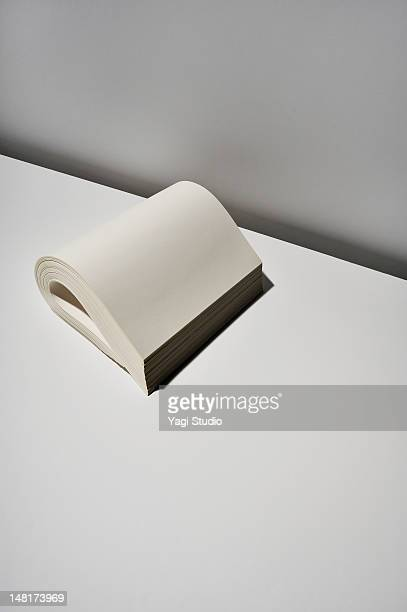 paper on white background