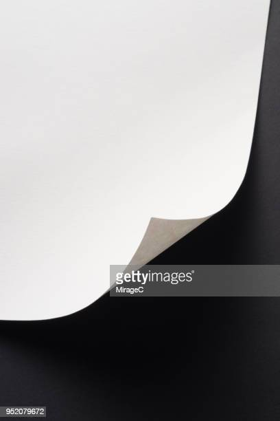paper page corner curve - folded stock photos and pictures