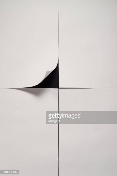 paper page corner peel - page stock pictures, royalty-free photos & images