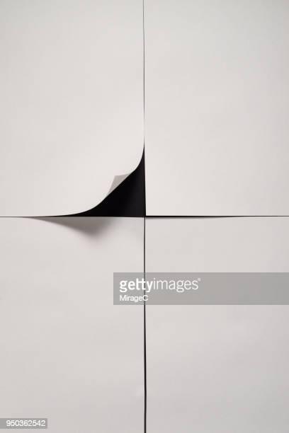 paper page corner peel - tourner photos et images de collection