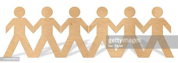 paper people xxl - human representation stock pictures, royalty-free photos & images